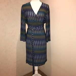 Gorgeous custom-tailored DVF style wrap dress